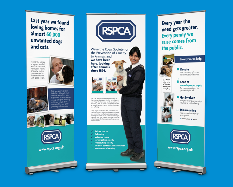RSPCA Pull up banners